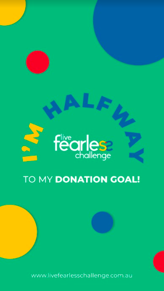 Halfway to Donation Goal 2021 (Story)