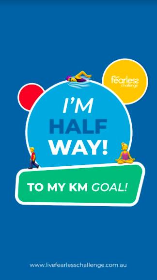 Halfway to KM Goal 2021 (Story)